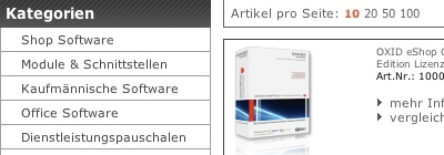 Shopsysteme und Shopsoftware